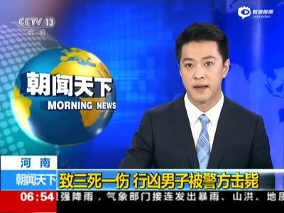 郑州男子持刀行凶致3死1伤 被警方当场击毙