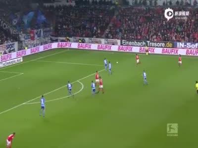 拉塔泽上演帽子戏法 美因茨主场3-1胜汉堡