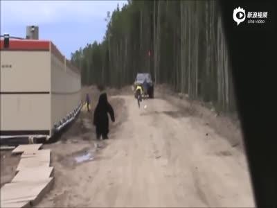 """男子恶作剧假扮黑熊 同事""""吓掉魂""""落荒而逃"""