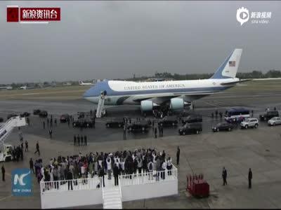 现场:奥巴马抵达古巴进行访问 不见老卡斯特罗